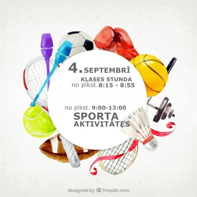 4.septembrī – sportojam!